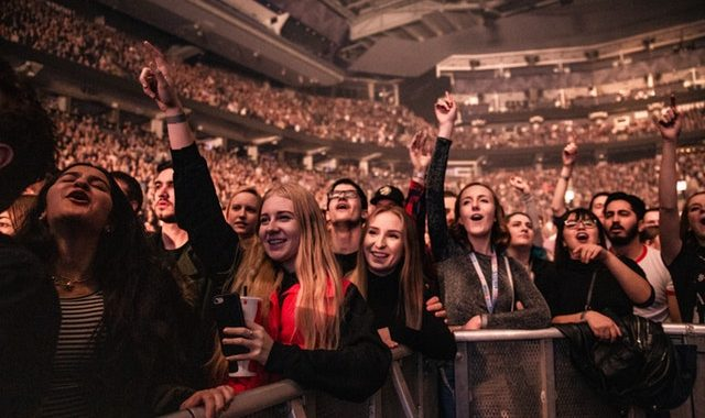 People having fun at the concert